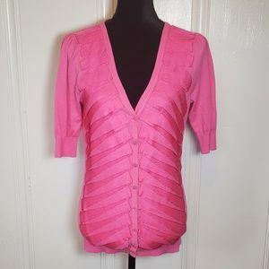 Ted Baker Hot Pink Ribboned Cardigan